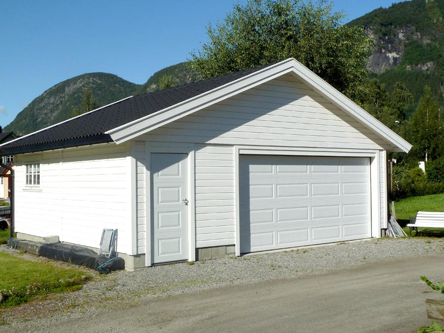Double garage en bois Tahon