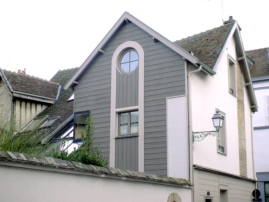 extension bois avec Isolation du pignon Ouest et pose de menuiseries isolantes