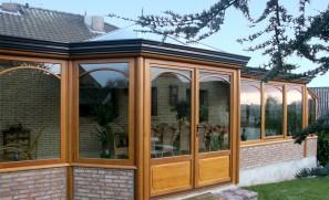 Véranda bois de 45 m2 à Puisieux